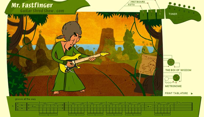 Guitar Shred Show Mr. Fastfinger
